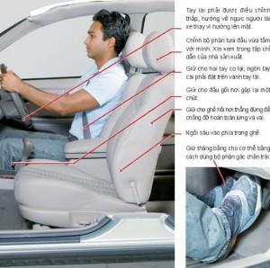 Ngồi lái xe oto đúng tư thế bạn nên biết