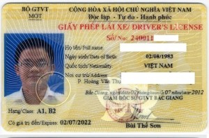Đổi bằng lái xe mẫu mới