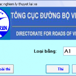 Luyện thi với phần mềm thi bằng lái xe A1