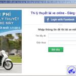 Hướng dẫn thi bằng lái xe máy online