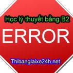 Những lỗi thường gặp trong phần thi lý thuyết bằng lái xe B2