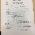 Đơn đề nghị thi bằng lái xe B1