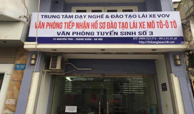 Địa chỉ nộp hồ sơ thi bằng lái xe máy ở Hà Nội