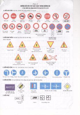 Phần biển báo đề thi bằng lái xe máy A1